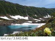 Голубые озера на Камчатке, фото № 3643646, снято 23 июня 2012 г. (c) А. А. Пирагис / Фотобанк Лори