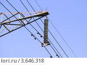 Купить «Изоляторы ЛЭП  на фоне неба», эксклюзивное фото № 3646318, снято 25 июня 2012 г. (c) Алёшина Оксана / Фотобанк Лори