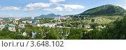 Купить «Панорама Пятигорска с горой Машук», фото № 3648102, снято 17 июня 2012 г. (c) Nikolay Sukhorukov / Фотобанк Лори