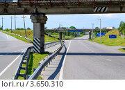 Дорога под мостом (2011 год). Редакционное фото, фотограф Артур Худолий / Фотобанк Лори