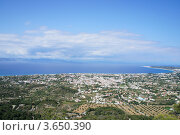 Вид на Ялисос с горы Фелиримос. Стоковое фото, фотограф Андрей Носов / Фотобанк Лори