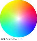 Круглый цветовой спектр. Стоковая иллюстрация, иллюстратор Алексей Омельянович / Фотобанк Лори