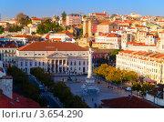 Площадь короля Педру IV. Лиссабон, Португалия (2012 год). Редакционное фото, фотограф Сергей Петерман / Фотобанк Лори