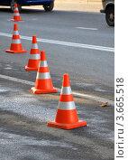 Дорожные конусы. Стоковое фото, фотограф Анна Мартынова / Фотобанк Лори