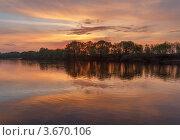 Купить «Весенний закат на Москве-реке», эксклюзивное фото № 3670106, снято 7 мая 2012 г. (c) Горшков Игорь / Фотобанк Лори