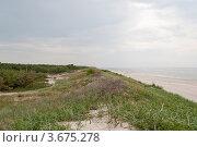 Купить «Пустынный берег Балтийского моря в хмурый пасмурный день», эксклюзивное фото № 3675278, снято 4 июля 2012 г. (c) Григорий Стоякин / Фотобанк Лори