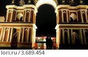 Купить «Большой дворец в Царицыно вечером», видеоролик № 3689454, снято 10 января 2010 г. (c) Losevsky Pavel / Фотобанк Лори