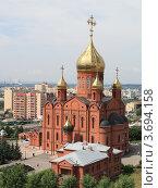 Купить «Знаменский кафедральный собор, Кемерово», фото № 3694158, снято 3 июля 2012 г. (c) Константин Челомбитко / Фотобанк Лори