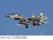 Купить «Су-35М поколения 4 плюс в полёте», фото № 3694282, снято 14 марта 2010 г. (c) Михеев Алексей / Фотобанк Лори