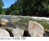 Горная река Солзан (2012 год). Стоковое фото, фотограф Надежда Науменко / Фотобанк Лори