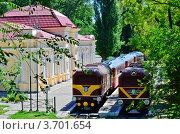 Купить «Детская железная дорога Днепропетровск Украина», фото № 3701654, снято 23 июля 2012 г. (c) Несинов Олег / Фотобанк Лори