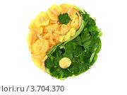 Здоровое и нездоровое питание. Стоковое фото, фотограф Денис Омельченко / Фотобанк Лори