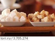 Белый и коричневый сахар. Стоковое фото, фотограф Сиверина Лариса Игоревна / Фотобанк Лори
