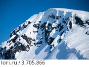 Купить «Заснеженные Хибины на фоне голубого неба», фото № 3705866, снято 31 марта 2012 г. (c) Morgenstjerne / Фотобанк Лори