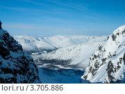 Купить «Зимний пейзаж, Хибины», фото № 3705886, снято 31 марта 2012 г. (c) Morgenstjerne / Фотобанк Лори