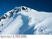 Купить «Снег на вершине горы, Хибины», фото № 3705890, снято 31 марта 2012 г. (c) Morgenstjerne / Фотобанк Лори