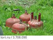 Купить «Газовые баллоны», фото № 3708090, снято 6 июля 2012 г. (c) карзанов николай / Фотобанк Лори