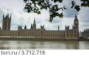 Здание парламента и Биг Бен в Лондоне (2010 год). Стоковое видео, видеограф Losevsky Pavel / Фотобанк Лори