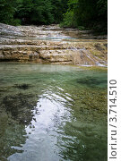 Купить «Горная река Куаго. Геленджик.», фото № 3714510, снято 13 июля 2010 г. (c) Екатерина Шелыганова / Фотобанк Лори