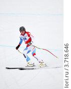 Купить «Лыжница Венди Хольденер на чемпионате FIS Alpine Ski World Cup 2011/2012 в Сочи», фото № 3718646, снято 18 февраля 2012 г. (c) Анна Мартынова / Фотобанк Лори