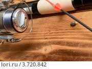 Купить «Удочка, поплавок и катушка», фото № 3720842, снято 18 июля 2012 г. (c) Сергей Галушко / Фотобанк Лори