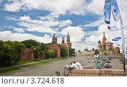 Вид с моста на красную площадь (2012 год). Редакционное фото, фотограф Екатерина Романова / Фотобанк Лори