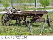 Деревянная телега. Стоковое фото, фотограф Воробьев Валерий / Фотобанк Лори