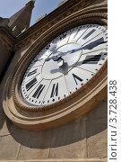 Часы на башне кафедрального собора г.Мессина, Сицилия. Стоковое фото, фотограф Екатерина Слугина / Фотобанк Лори