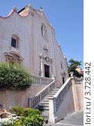 Кафедральный собор в Таормино, Сицилия. Стоковое фото, фотограф Екатерина Слугина / Фотобанк Лори