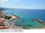 Пристань в городе Пиццо, Италия. Стоковое фото, фотограф Екатерина Слугина / Фотобанк Лори