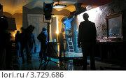 Купить «На съемках видеоклипа(Таймлапс)», видеоролик № 3729686, снято 18 декабря 2010 г. (c) Losevsky Pavel / Фотобанк Лори