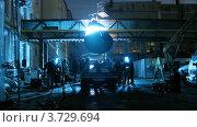 Купить «Процесс съемки клипа на открытом воздухе», видеоролик № 3729694, снято 18 декабря 2010 г. (c) Losevsky Pavel / Фотобанк Лори