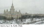 Купить «Московский государственный университет зимой в дневное время (таймлапс)», видеоролик № 3729766, снято 20 марта 2011 г. (c) Losevsky Pavel / Фотобанк Лори