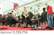 """Купить «XVII фестиваль """"Мир красоты"""" (таймлапс)», видеоролик № 3729774, снято 14 декабря 2010 г. (c) Losevsky Pavel / Фотобанк Лори"""