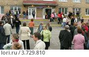 Купить «Первый звонок в одной из школ Москвы (таймлапс)», видеоролик № 3729810, снято 17 декабря 2010 г. (c) Losevsky Pavel / Фотобанк Лори