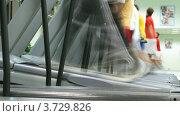 Купить «Люди бегут на беговым дорожкам в спортзале (таймлапс)», видеоролик № 3729826, снято 17 декабря 2010 г. (c) Losevsky Pavel / Фотобанк Лори