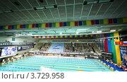 Купить «Чемпионат России по плаванию», видеоролик № 3729958, снято 24 марта 2011 г. (c) Losevsky Pavel / Фотобанк Лори