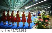 Купить «Церемония награждения спортсменов», видеоролик № 3729982, снято 20 марта 2011 г. (c) Losevsky Pavel / Фотобанк Лори