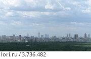 Купить «Панорама Москвы в пасмурный летний день, таймлапс», видеоролик № 3736482, снято 1 июня 2011 г. (c) Losevsky Pavel / Фотобанк Лори