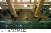 Купить «Московский метрополитен», видеоролик № 3736622, снято 2 мая 2011 г. (c) Losevsky Pavel / Фотобанк Лори