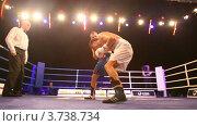 Купить «Крупным планом матч по боксу в освещенном зале Барвиха LUXURY VILLAGE», видеоролик № 3738734, снято 16 июля 2011 г. (c) Losevsky Pavel / Фотобанк Лори