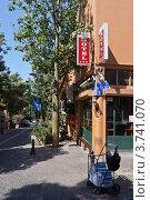 Купить «Угол гостиницы на уютной тихой улочке старого Тель-Авива», фото № 3741070, снято 8 августа 2012 г. (c) Олег Хмельниц / Фотобанк Лори