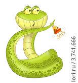 Купить «Змея символ 2013 года», иллюстрация № 3741666 (c) Стефания Домогацкая / Фотобанк Лори