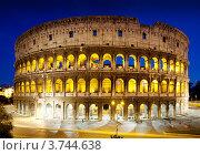 Купить «Римский Колизей в ночное время», фото № 3744638, снято 7 июня 2012 г. (c) Iakov Kalinin / Фотобанк Лори