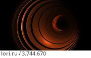 Купить «Концентрическая абстракция на черном фоне», иллюстрация № 3744670 (c) megastocker / Фотобанк Лори