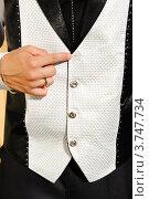 Свадебный костюм, деталь. Стоковое фото, фотограф Алексей Казнадей / Фотобанк Лори