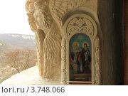 Купить «Свято-Успенский мужской пещерный монастырь в Бахчисарае. Крым», эксклюзивное фото № 3748066, снято 4 апреля 2011 г. (c) Rekacy / Фотобанк Лори