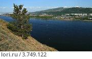 Купить «Летний пейзаж с рекой», видеоролик № 3749122, снято 19 июля 2012 г. (c) Юрий Пономарёв / Фотобанк Лори