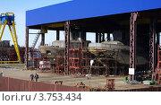 Купить «Строящиеся суда на стапеле», фото № 3753434, снято 2 апреля 2012 г. (c) Алексей Бекетов / Фотобанк Лори