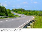 Изгиб скоростной дороги. Стоковое фото, фотограф Артур Худолий / Фотобанк Лори